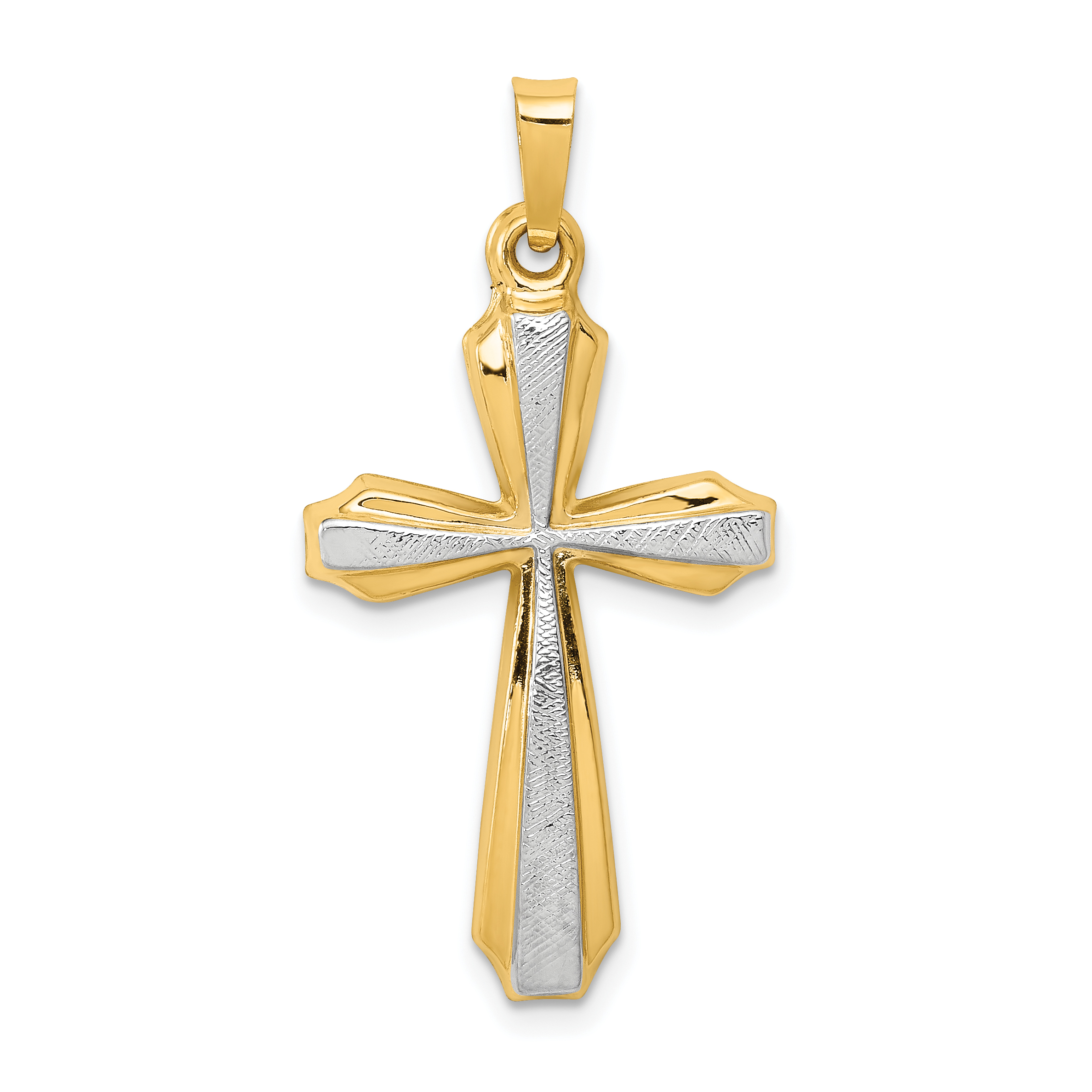 14k with rhodium textured and polished passion cross pendant weight 14k with rhodium textured and polished passion cross pendant weight 089 length width aloadofball Choice Image