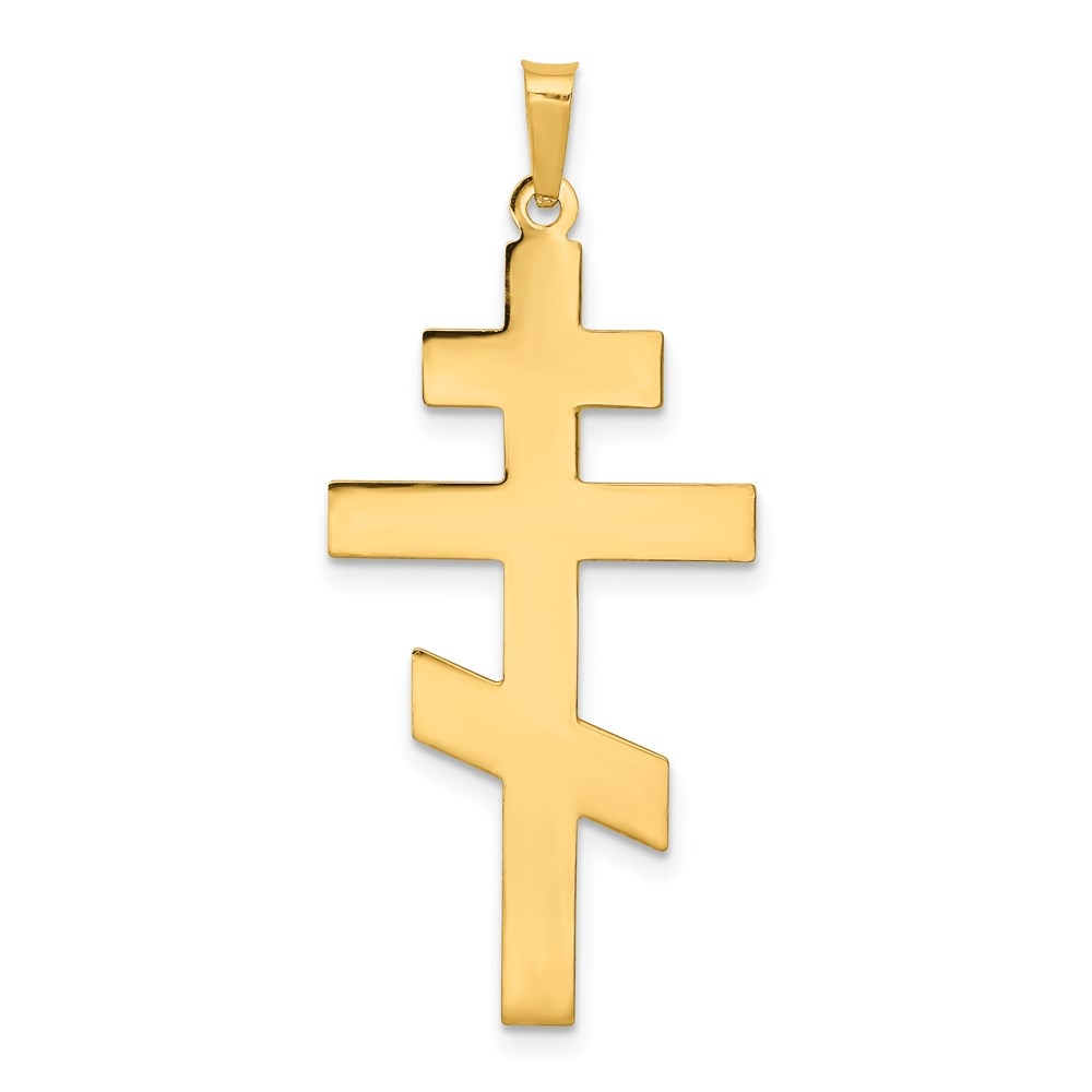 Orthodox cross symbol image collections symbol and sign ideas 14k 14kt yellow solid gold eastern orthodox cross pendant ebay image is loading 14k 14kt yellow buycottarizona