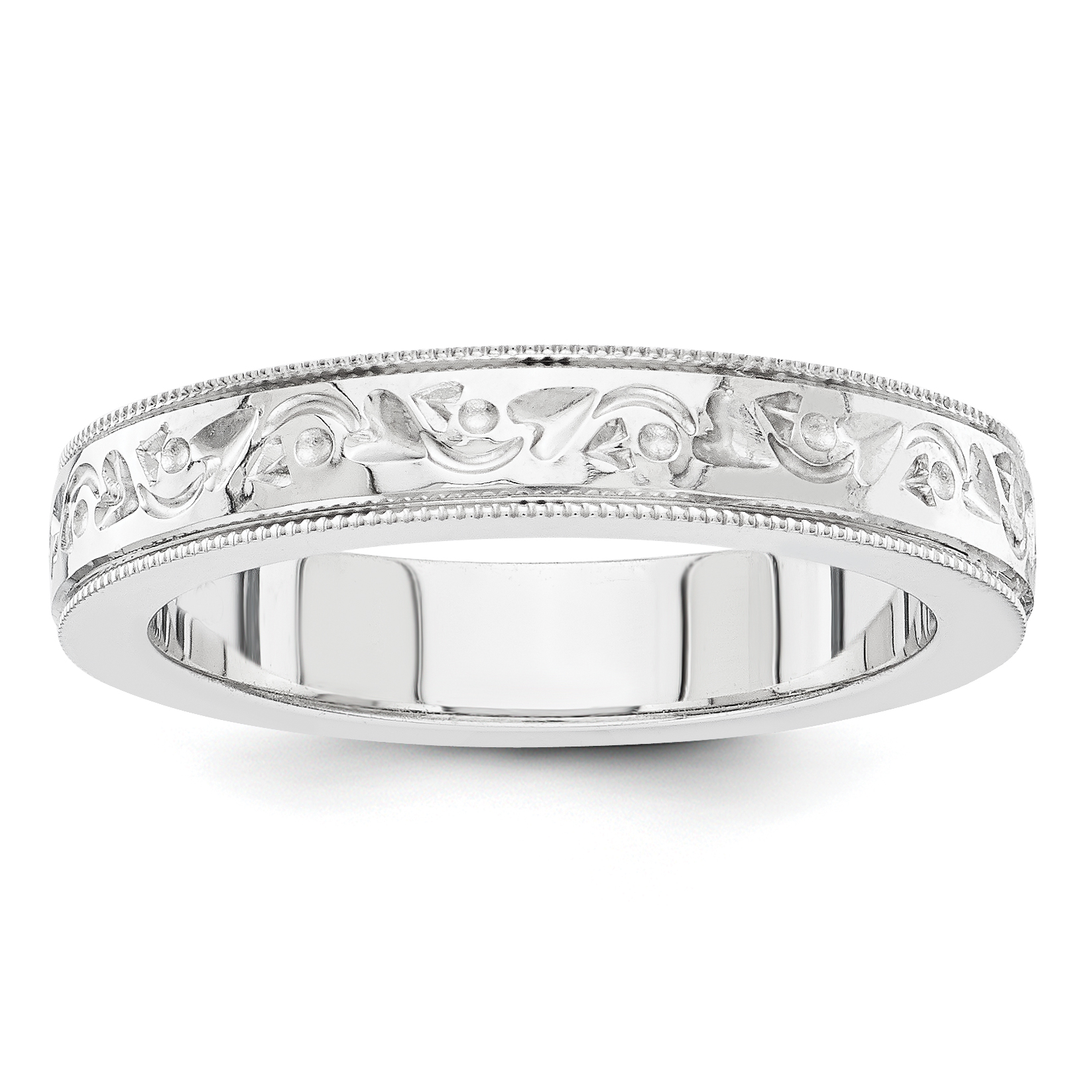 Click Thumbnails To Enlarge: White Gold Engraved Wedding Bands At Websimilar.org