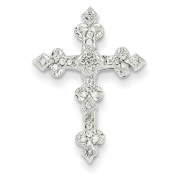14k white gold diamond filigree cross pendant weight 129 length 14k white gold diamond filigree cross pendant weight 129 length 25 width 18 aloadofball Image collections