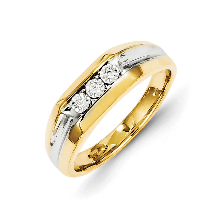 14k Diamond Mens Ring