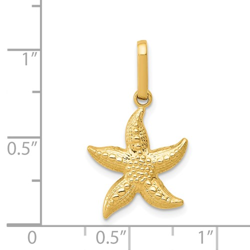 14k-Yellow-Gold-Textured-Hollow-Starfish-Pendant-0-6INx0-5IN