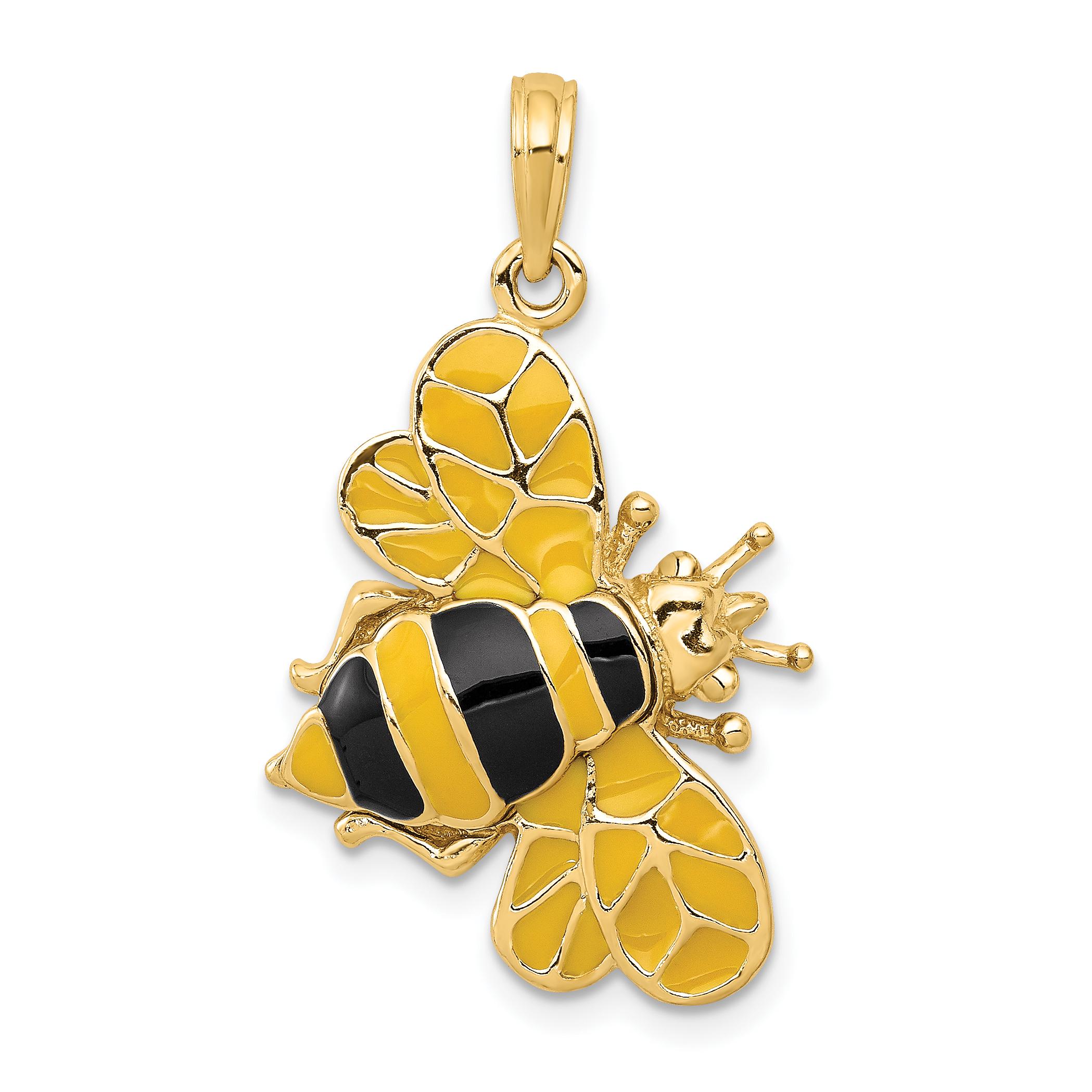 14k enameled bumblebee pendant aloadofball Gallery