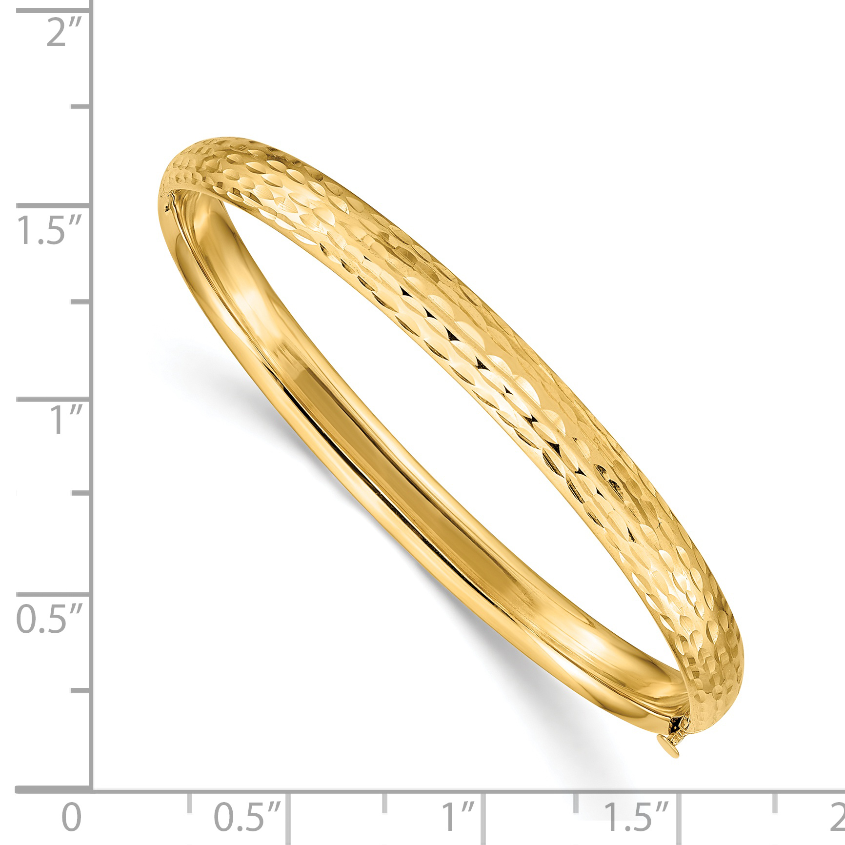 fb3594710b879 Details about 14k Yellow Gold Kids Hammered 5mm Hinged Baby Bangle Bracelet  Mothers Day Gifts