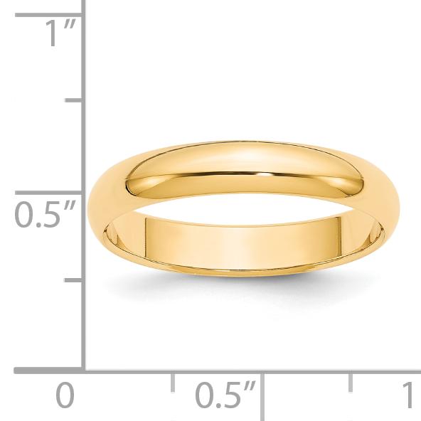 14K Yellow Gold 3mm Milgrain Half-Round Wedding Band Ring