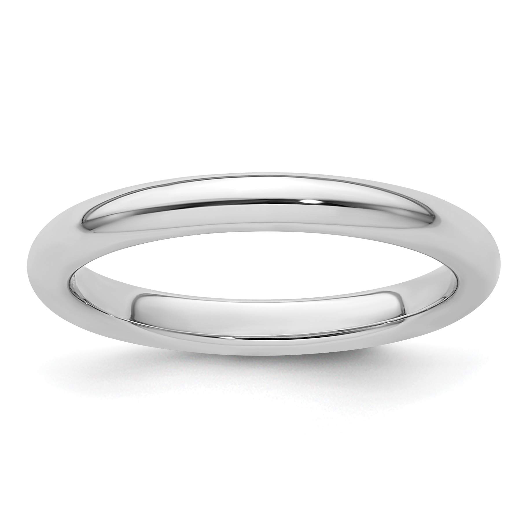 Platinum 2 5mm Comfort Fit Wedding Ring Band Size 6 00 Classic Domed