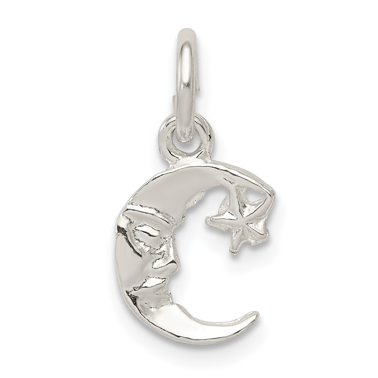 Celestial Pendant NEW 925 Sterling Silver Crescent Moon and Star Charm
