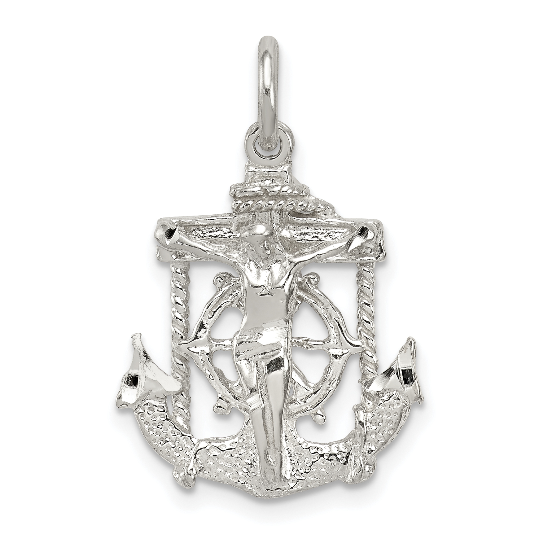 Fashion Necklaces & Pendants 925 Sterling Silver Cross Religious Pendant Charm Necklace Mariner Fine Jewelry Fashion Jewelry
