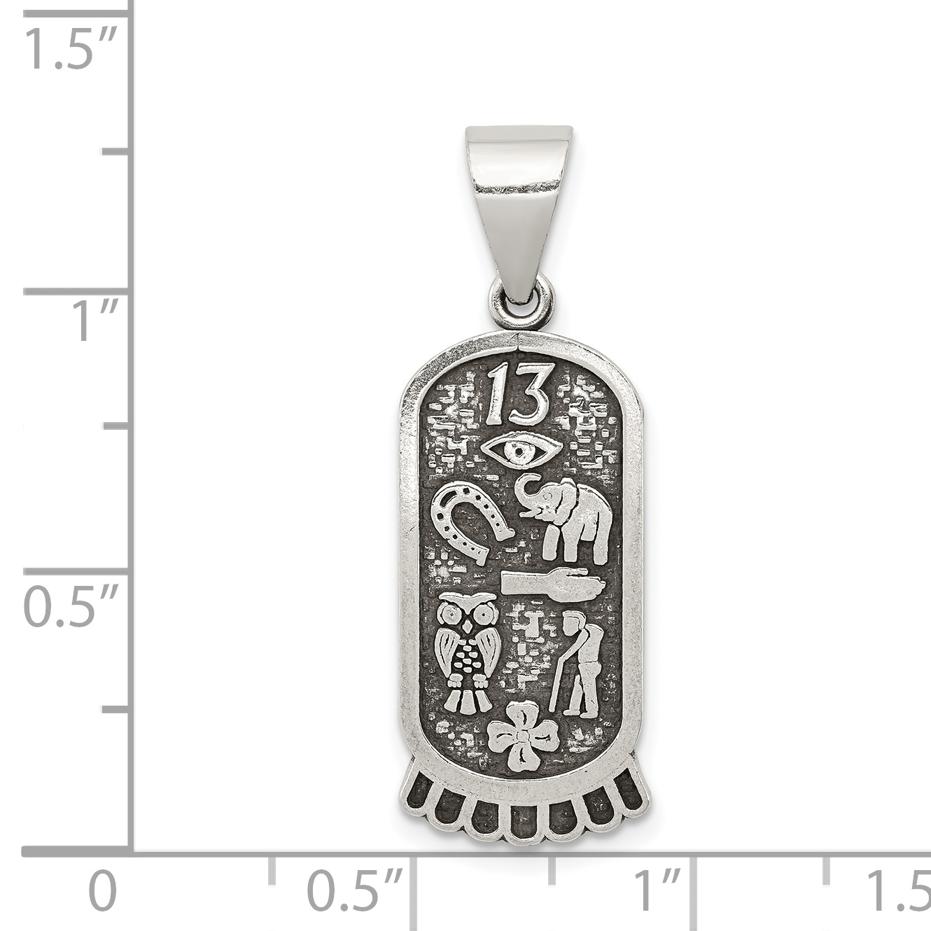 Details About 925 Sterling Silver Good Luck Icon Pendant Charm Necklace Italian Horn Man Fine