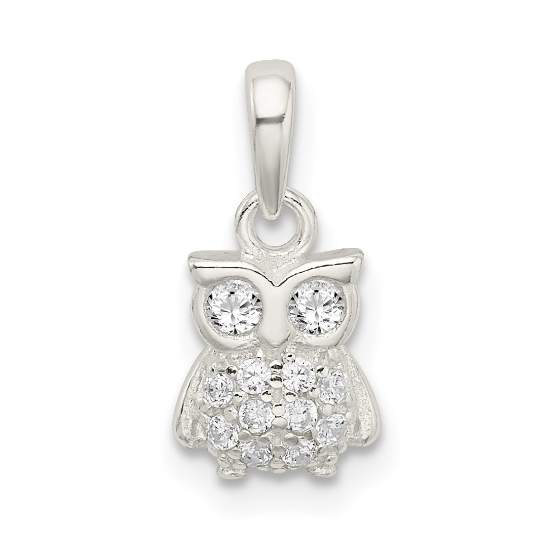 74e489625b91e 925 STERLING SILVER CUBIC ZIRCONIA CZ OWL PENDANT CHARM NECKLACE BIRD FINE  JEWELRY GIFTS FOR WOMEN FOR HER