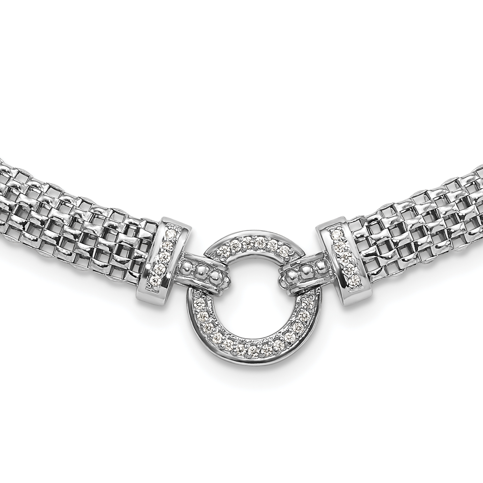 925 Sterling Silver Cubic Zirconia Cz Chain Slide Pendant Charm Necklace Fine Jewelry Gifts For Women For Her