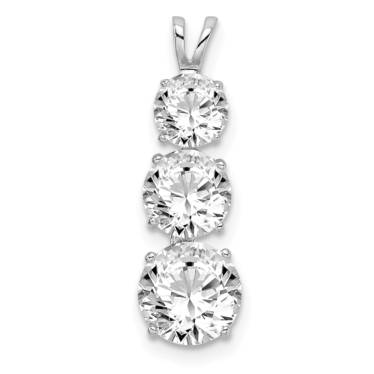 925 Sterling Silver Cubic Zirconia Cz Slide Necklace Pendant Charm Fine Jewelry Gifts For Women For Her
