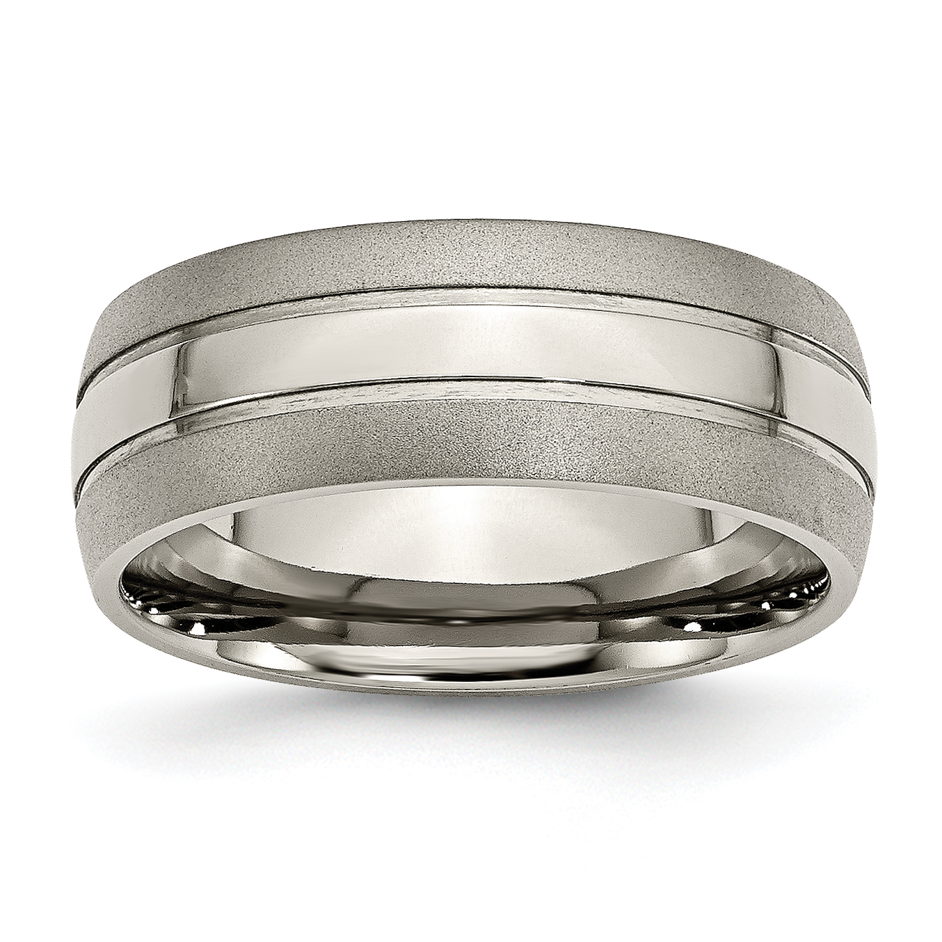 Titanium Notched 8mm Satin Wedding Band Fine Jewelry Ideal Gifts For Women