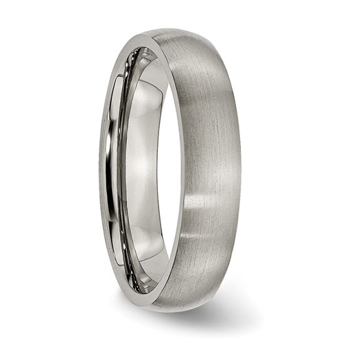 Chisel Anium 5mm Brushed Comfort Fit Wedding Band