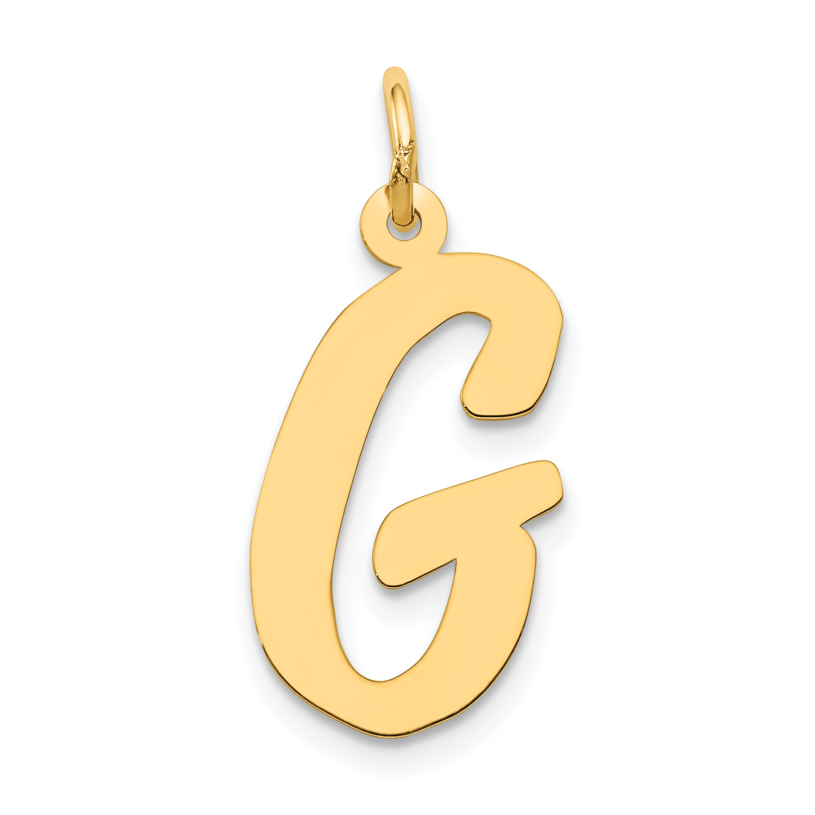 14k Yellow Gold Initial Monogram Name Letter K Pendant Charm Necklace Fine Jewelry Gifts For Women For Her
